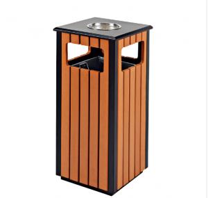 Thùng rác gỗ ngoài trời A78-D