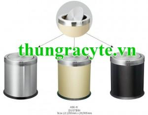 Thùng rác inox nắp lật A36-H