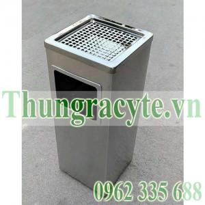 Thùng rác inox gạt tàn A34-B