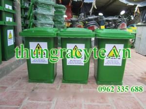 Thùng rác công nghiệp 120 lít có đế cố định