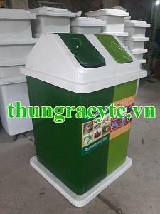 Thùng rác công nghiệp 2 ngăn