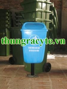 Thùng rác công nghiệp 55 lít treo đơn