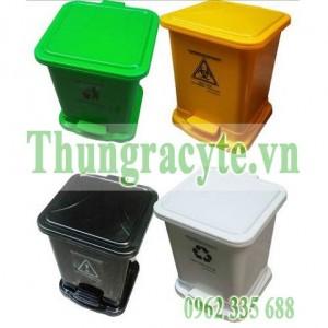 Thùng đựng rác y tế 30 lít có đạp chân mở nắp