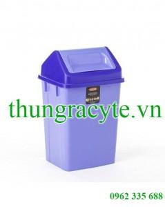 Thùng rác nhựa nắp lật trung