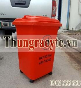 Thùng rác nhựa 60 lít màu đỏ