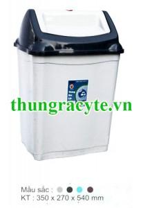 Thùng rác nhựa nắp lật 28 lít