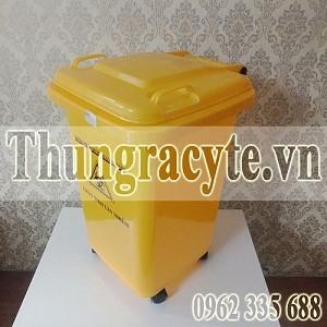 Thùng đựng rác y tế 60 lít màu vàng