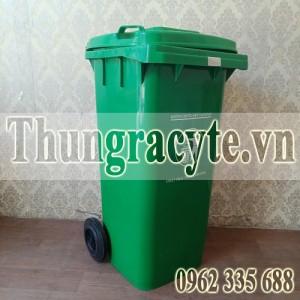 Thùng rác nhựa 120L màu xanh lá cây