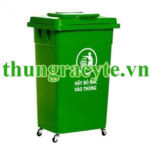 Thùng rác nhựa HDPE 90 lít nắp kín