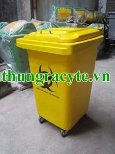 Thùng rác y tế 60 lít bánh xe