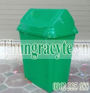 Thùng rác nhựa 40 lít nắp bập bênh